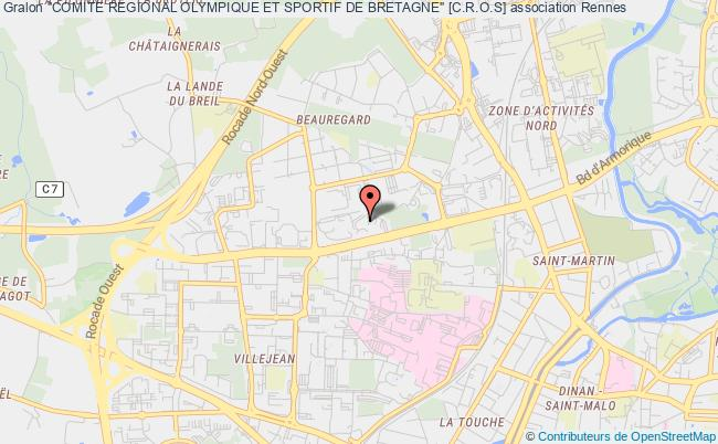 """plan association """"comite Regional Olympique Et Sportif De Bretagne"""" [c.r.o.s]"""