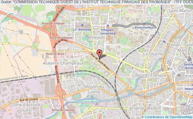 """plan association """"commission Technique Ouest De L'institut Technique Francais Des Fromages"""" - Itff Ouest Ou It2f Ouest"""