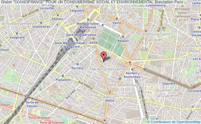 """plan association """"consofrance"""" Pour Un Consumerisme Social Et Environnemental"""