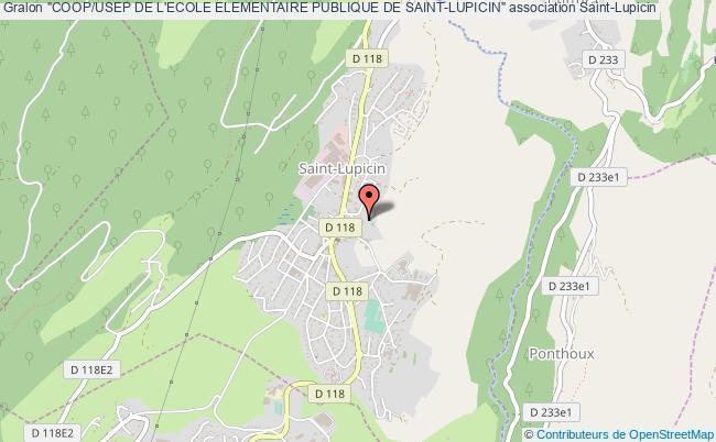 """plan association """"coop/usep De L'ecole Elementaire Publique De Saint-lupicin"""""""