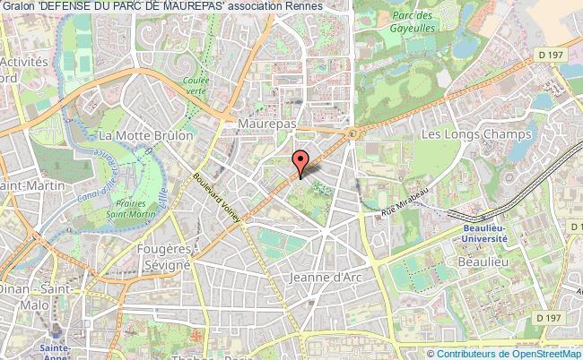 plan association 'defense Du Parc De Maurepas' Rennes