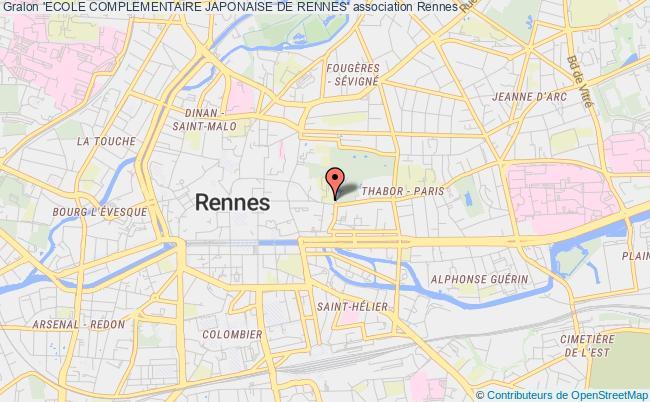 plan association 'ecole Complementaire Japonaise De Rennes' Rennes