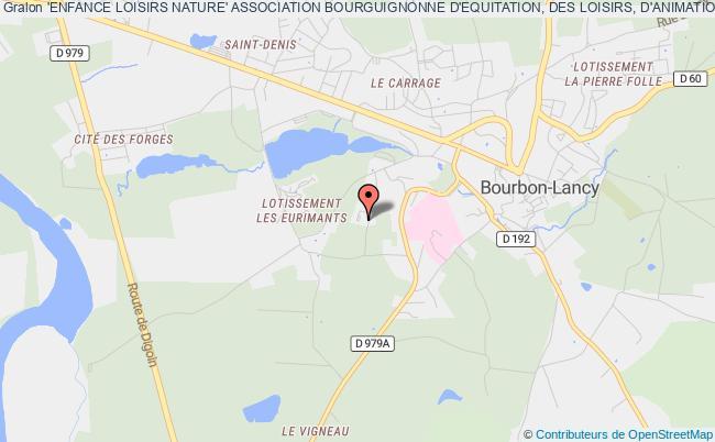 plan association 'enfance Loisirs Nature' Association Bourguignonne D'equitation, Des Loisirs, D'animation Et De Formation