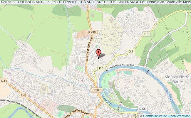 """plan association """"jeunesses Musicales De France Des Ardennes"""" Dite """"jm France 08"""""""