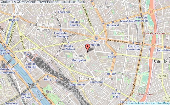 """plan association """"la Compagnie Traversiere"""""""