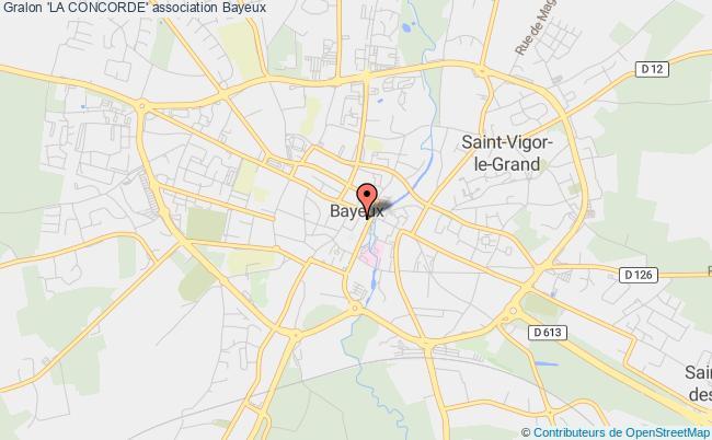 plan association 'la Concorde' Bayeux