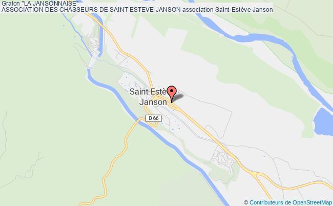 """plan association """"la Jansonnaise"""" Association Des Chasseurs De Saint Esteve Janson"""