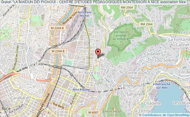 """plan association """"la MaÏoun Dei Pichoui - Centre D'etudes Pedagogiques Montessori A Nice"""