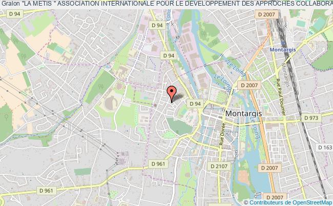 """plan association """"la Metis """" Association Internationale Pour Le Developpement Des Approches Collaboratives Et Alternatives En Travail Social (aidacats)"""