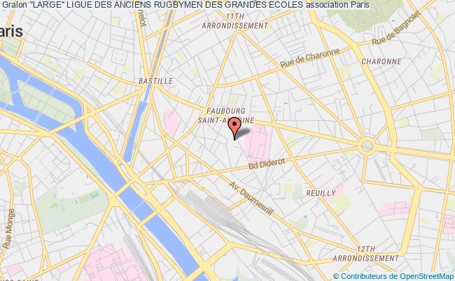 """plan association """"large"""" Ligue Des Anciens Rugbymen Des Grandes Ecoles"""