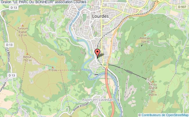 """plan association """"le Parc Du Bonheur"""" Lourdes"""