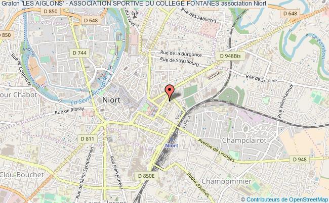 plan association 'les Aiglons' - Association Sportive Du College Fontanes