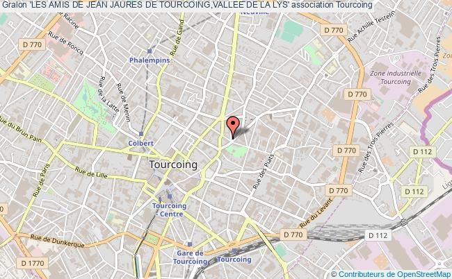 plan association 'les Amis De Jean Jaures De Tourcoing,vallee De La Lys'