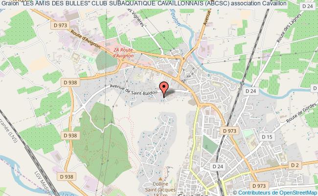 """plan association """"les Amis Des Bulles"""" Club Subaquatique Cavaillonnais (abcsc)"""