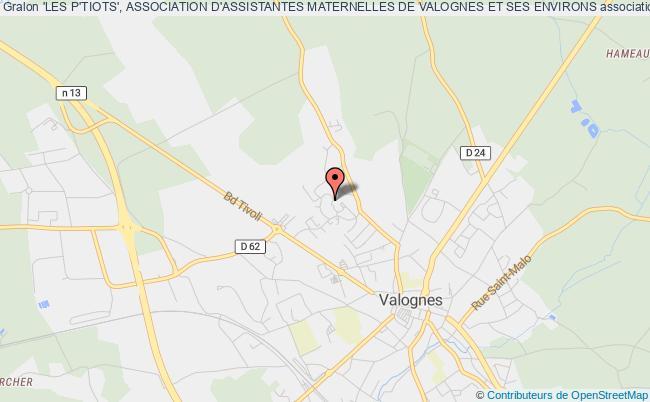 plan association 'les P'tiots', Association D'assistantes Maternelles De Valognes Et Ses Environs Valognes