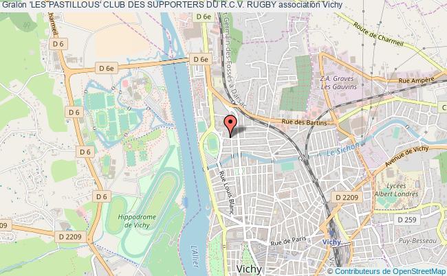 plan association 'les Pastillous' Club Des Supporters Du R.c.v. Rugby