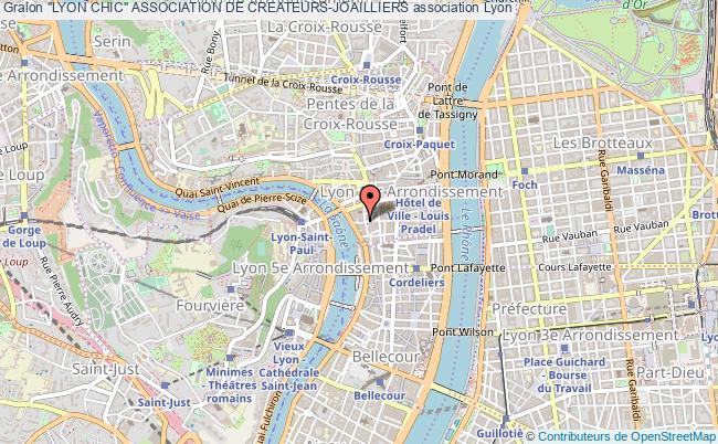 """plan association """"lyon Chic"""" Association De Createurs-joailliers"""