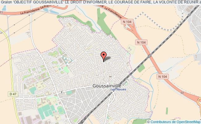 plan association 'objectif Goussainville' Le Droit D'informer, Le Courage De Faire, La Volonte De Reunir Goussainville