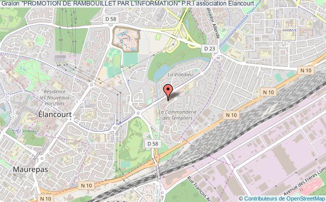 """plan association """"promotion De Rambouillet Par L'information"""" P.r.i Élancourt"""