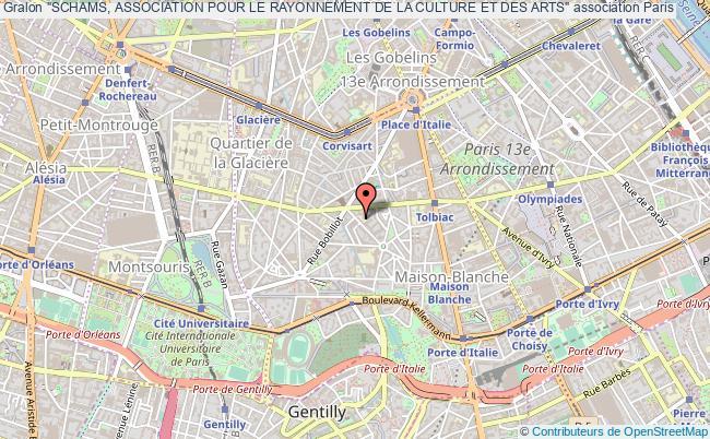 """plan association """"schams, Association Pour Le Rayonnement De La Culture Et Des Arts"""""""