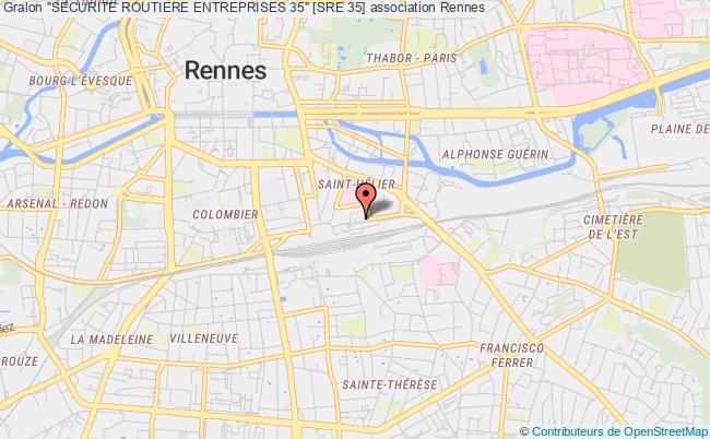"""plan association """"securite Routiere Entreprises 35"""" [sre 35]"""