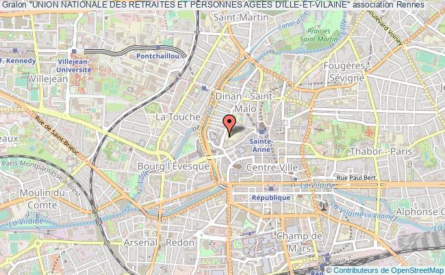 """plan association """"union Nationale Des Retraites Et Personnes Agees D'ille-et-vilaine"""" Rennes"""