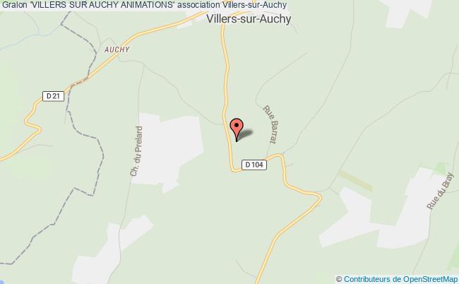 plan association 'villers Sur Auchy Animations'