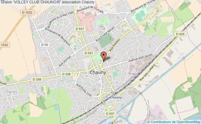 plan association 'volley Club Chaunois'