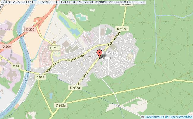 plan association 2 Cv Club De France - Region De Picardie Lacroix-Saint-Ouen