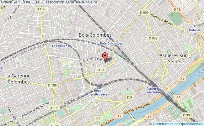 plan association 24h Challenge Asnières-sur-Seine