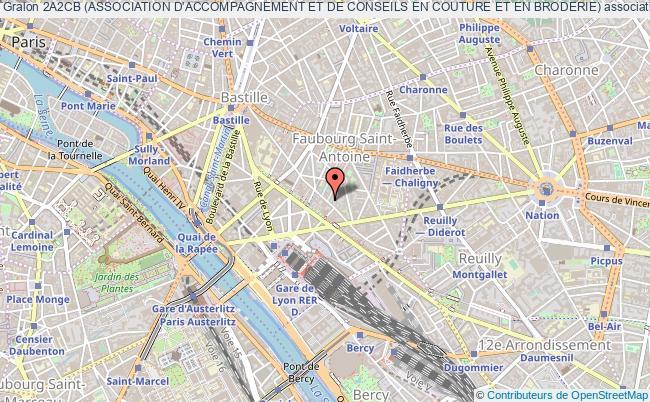 plan association 2a2cb (association D'accompagnement Et De Conseils En Couture Et En Broderie) Paris