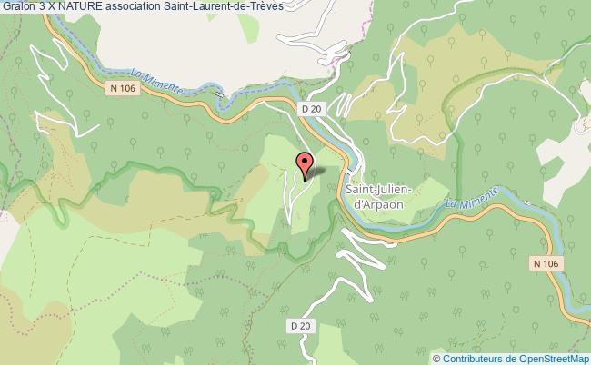 plan association 3 X Nature Saint-Julien-d'Arpaon