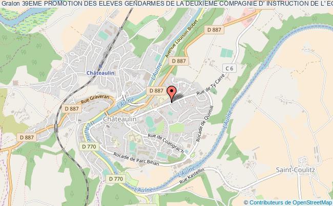 plan association 39eme Promotion Des Eleves Gendarmes De La Deuxieme Compagnie D' Instruction De L' Ecole De Gendarmerie De Chateaulin
