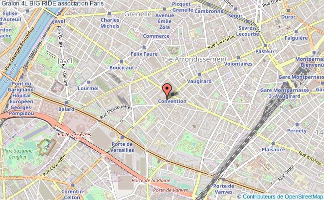 plan association 4l Big Ride Paris
