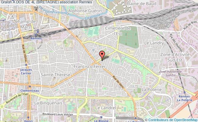 plan association A Dos De 4l (bretagne) Rennes