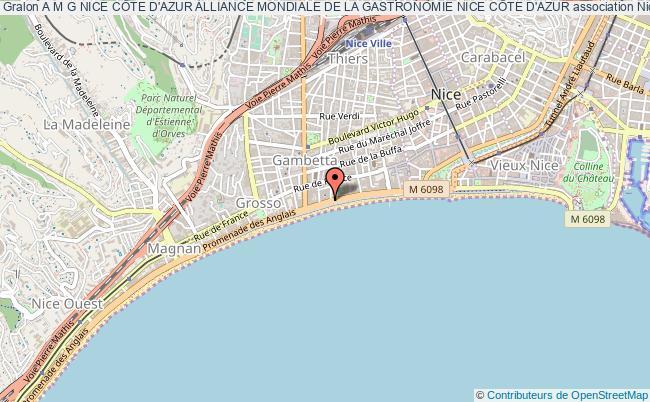 plan association A M G Nice CÔte D'azur Alliance Mondiale De La Gastronomie Nice CÔte D'azur