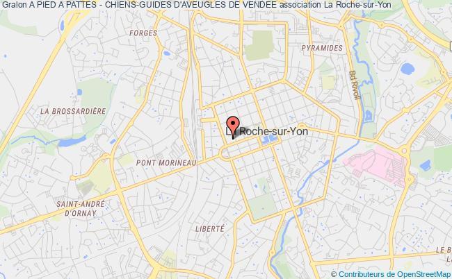 plan association A Pied A Pattes - Chiens-guides D'aveugles De Vendee La    Roche-sur-Yon