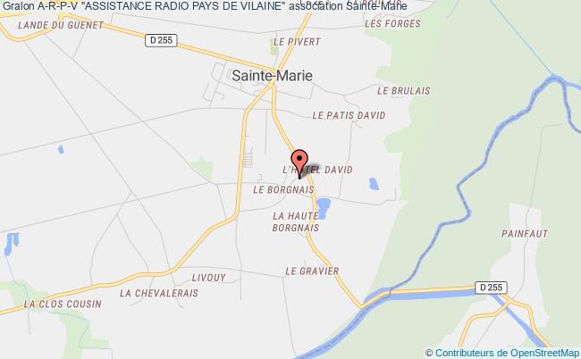 """plan association A-r-p-v """"assistance Radio Pays De Vilaine"""""""