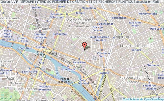 plan association A Vif - Groupe Interdisciplinaire De Creation Et De Recherche Plastique