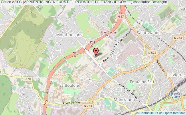 plan association A2ifc (apprentis Ingenieurs De L'industrie De Franche-comte)