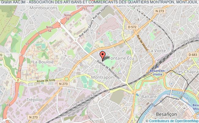 plan association Aac3m - Association Des Artisans Et Commercants Des Quartiers Montrapon, Montjoux, Montboucons Et Fontaine Ecu
