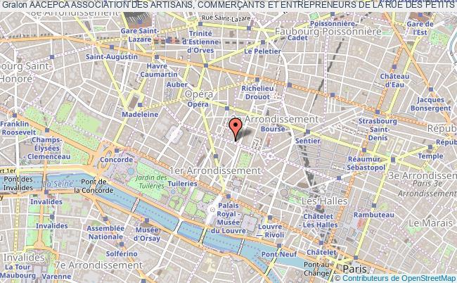 plan association Aacepca Association Des Artisans, CommerÇants Et Entrepreneurs De La Rue Des Petits Champs Et Des Rues Avoisinantes
