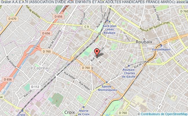 plan association A.a.e.a.h (association D'aide Aux Enfants Et Aux Adultes Handicapes France-maroc) Roubaix
