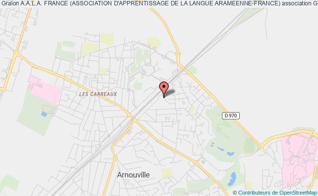 plan association A.a.l.a. France (association D'apprentissage De La Langue Arameenne-france) Gonesse