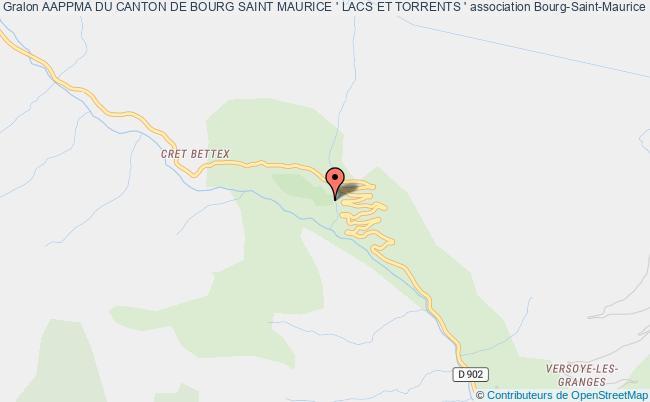 plan association Aappma Du Canton De Bourg Saint Maurice ' Lacs Et Torrents '