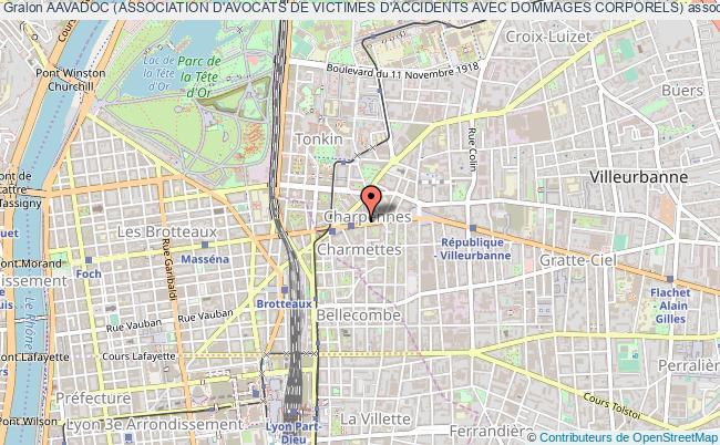 plan association Aavadoc (association D'avocats De Victimes D'accidents Avec Dommages Corporels)