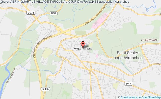 plan association Abrin-quart Le Village Typique Au C?ur D'avranches