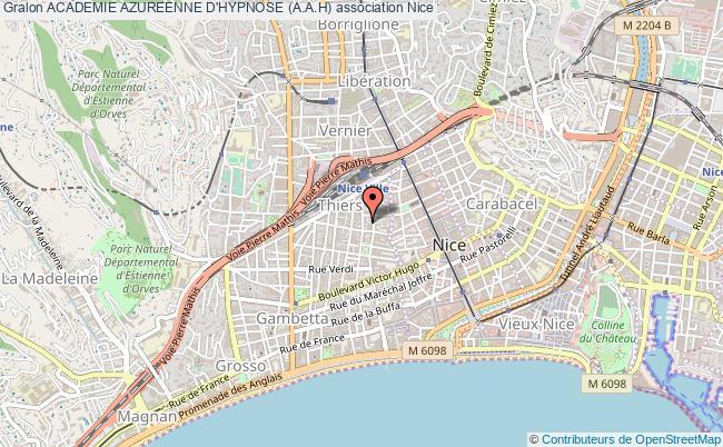 plan association Academie Azureenne D'hypnose (a.a.h)