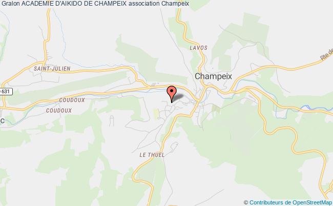 plan association Academie D'aikido De Champeix