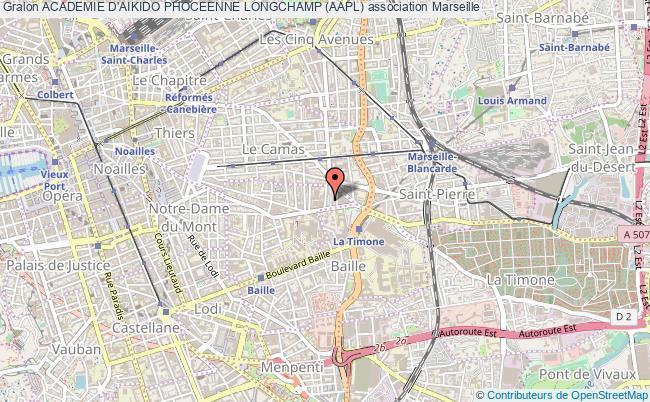 plan association Academie D'aikido Phoceenne Longchamp (aapl) Marseille